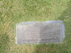 Sid Hatfield foot marker